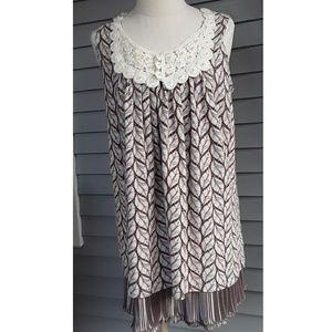 Dresses & Skirts - Yumi Knit Dress with pleated Satin Hem m/l